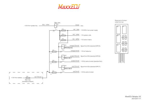 MaxxECU relaybox (REV2) - Wiring-en